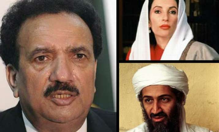 bin laden involving in benazir killing says pak interior