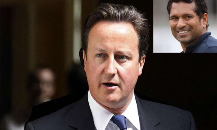 british pm cameron says he is sachin s fan loves hot curries