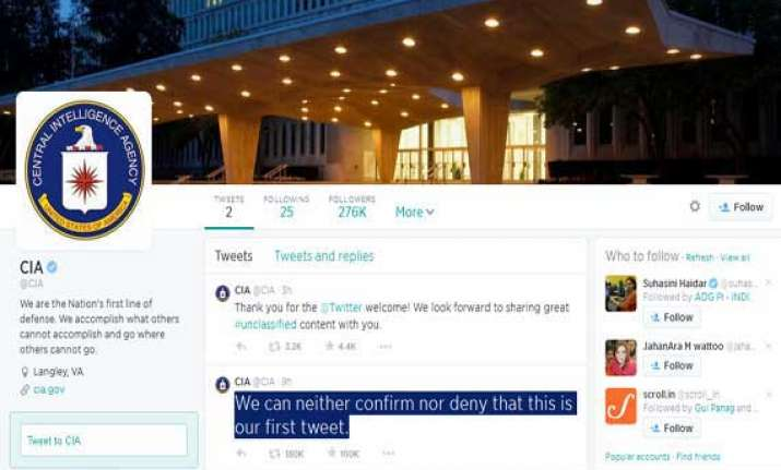 cia on twitter handle cia first tweet becomes an instant hit