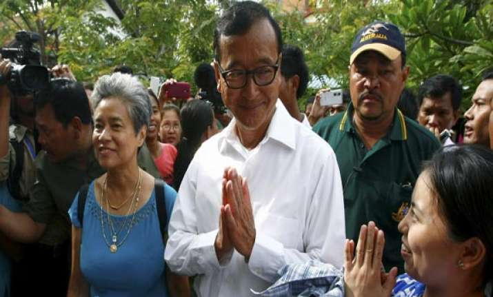cambodian opposition chief home to face standoff