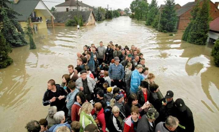 central europe reels under floods 21 killed