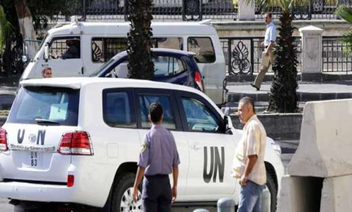 chemical experts make encouraging progress in syria