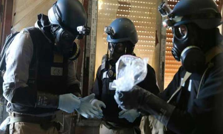 chemical experts begin destroying syria s chemical arsenal