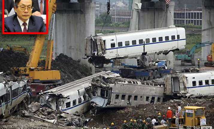 china holds ex minister 53 others responsible for train