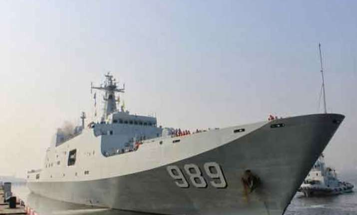 chinese navy holds war exercises in indian ocean