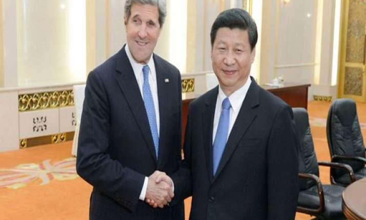 chinese president meets john kerry
