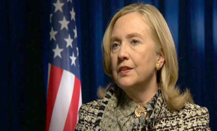 clinton treated with blood thinners to dissolve clot