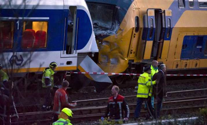 dutch trains collide dozens injured