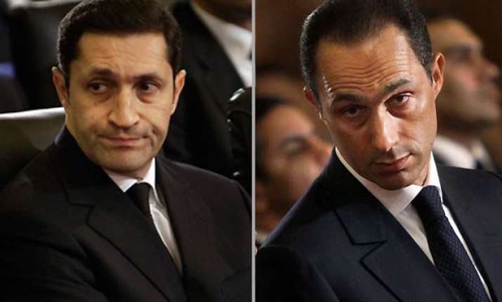 mubarak detained with his two sons