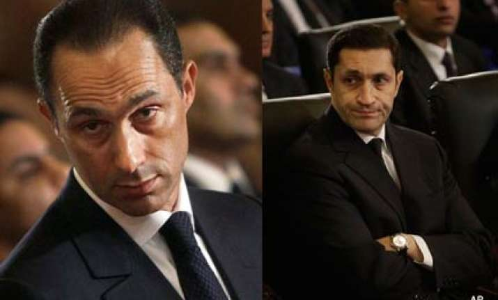 egypt hosni mubarak sons detained for investigation