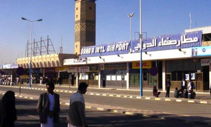 fighter jets ablaze after blasts rock yemen air base