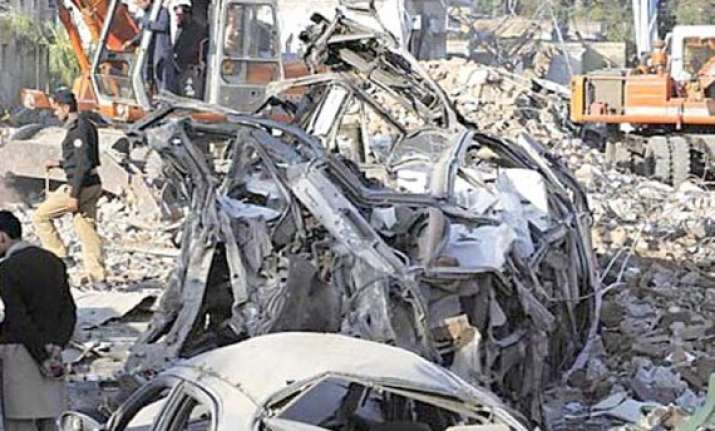 five killed 40 injured in militant attack on isi office in