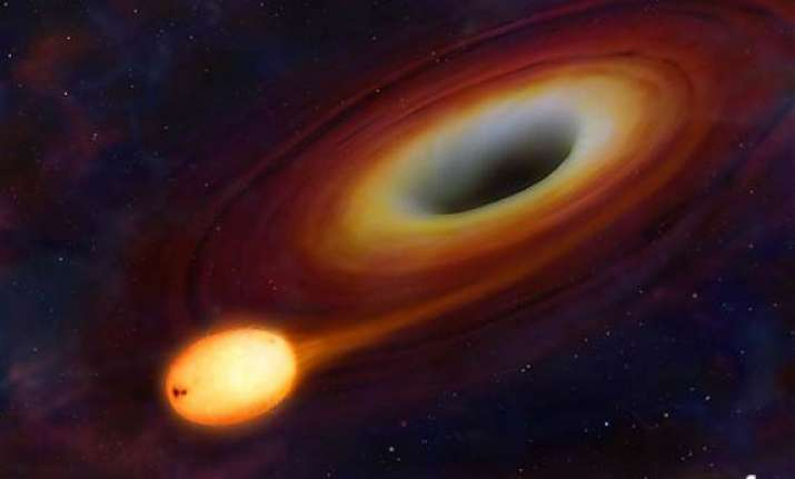 flash in distant galaxy was of a black hole swallowing a
