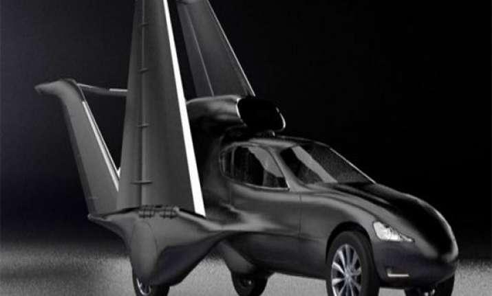 flying car california designers reveal matt black car