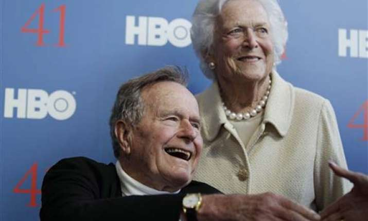 former us president george h. w. bush hospitalized