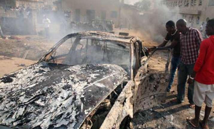 four bombers dead as blasts rock nigerian city