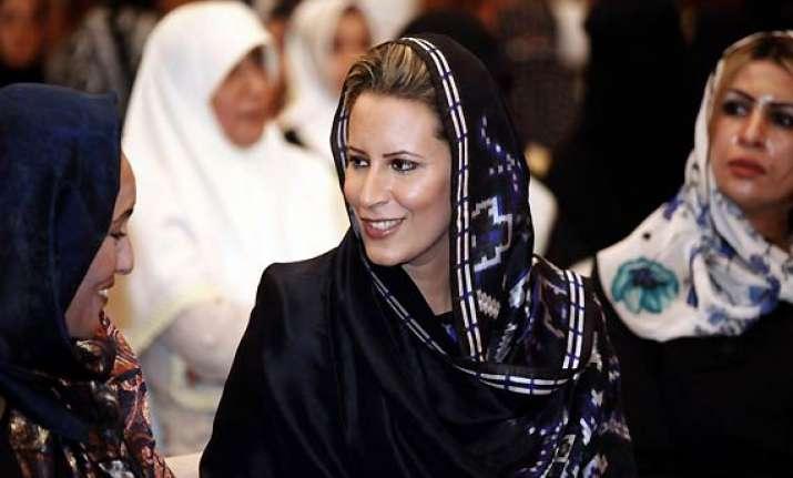 gadhafi s daughter calls for libya overthrow