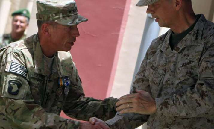 gen john allen takes over coalition forces command in