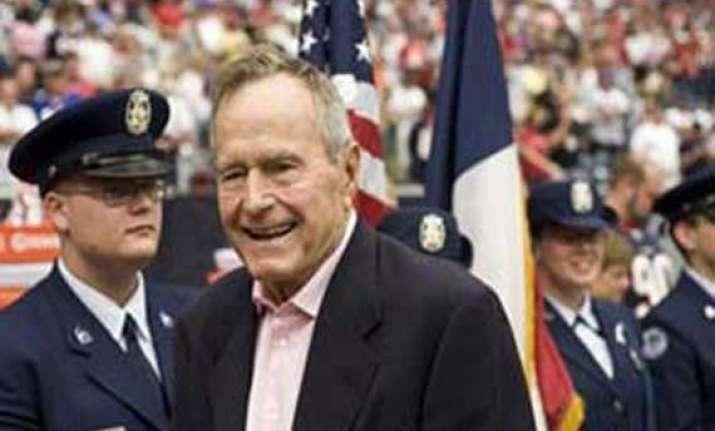 george hw bush in intensive care spokesman