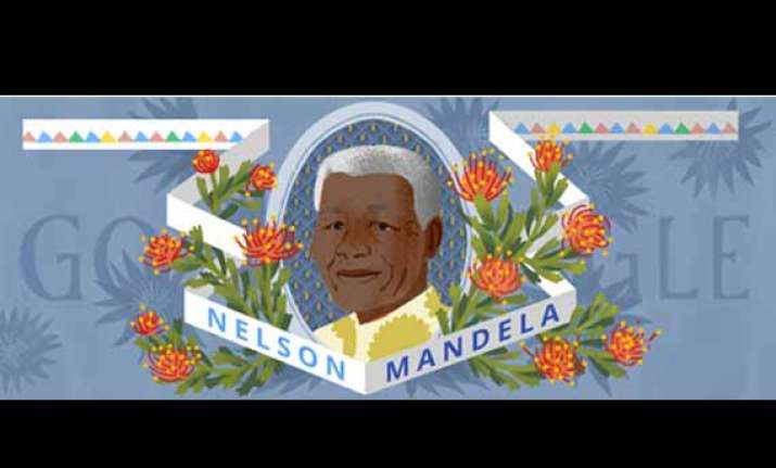 google doodle honours nelson mandela on his 96th birth