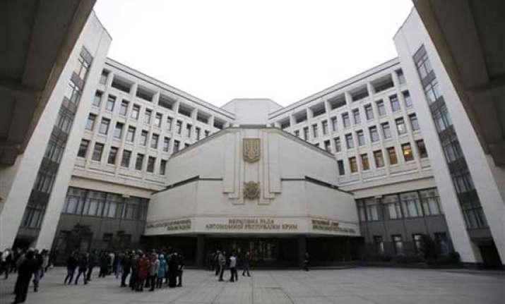 government buildings seized in ukraine s crimea watch pics