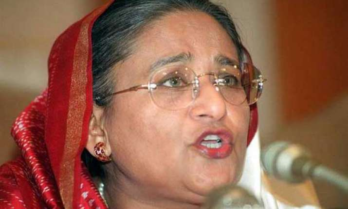 hasina asks hindus to be firm in demanding their rights