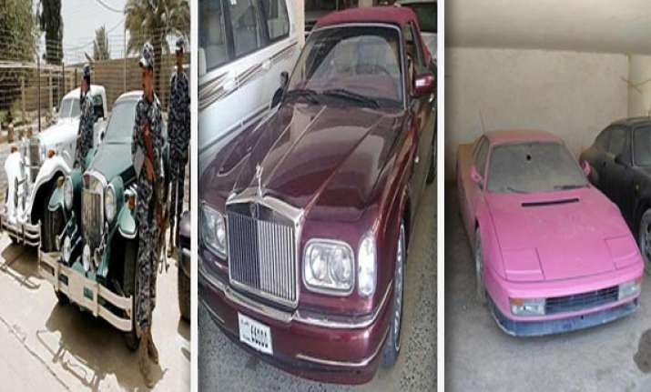 have a look at the luxury cars of saddam hussein s son in