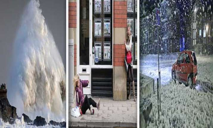 havoc in pics 108mph winds and rain batter england