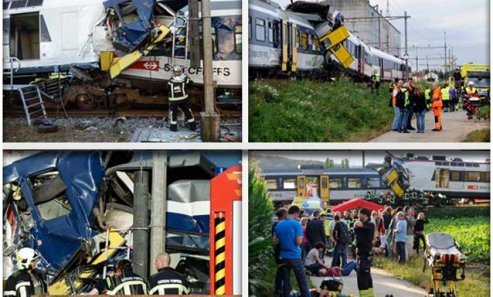 head on train collision in switzerland watch rescue