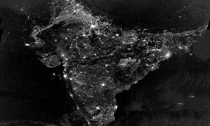 how india looked from space on diwali night nasa pic