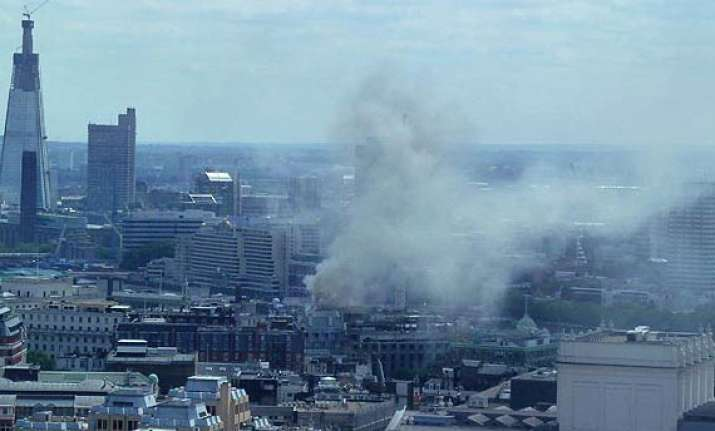 huge blaze in central london