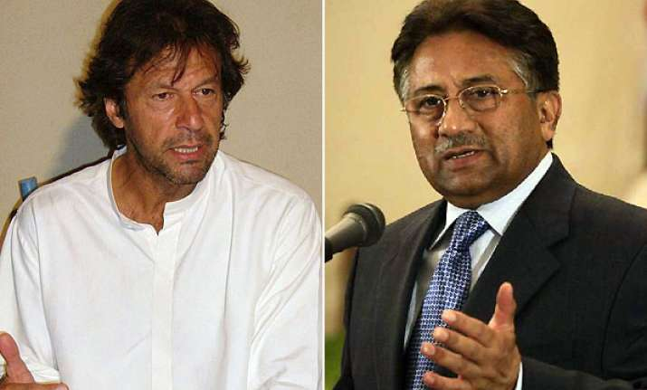 imran khan indicates political tie up with musharraf