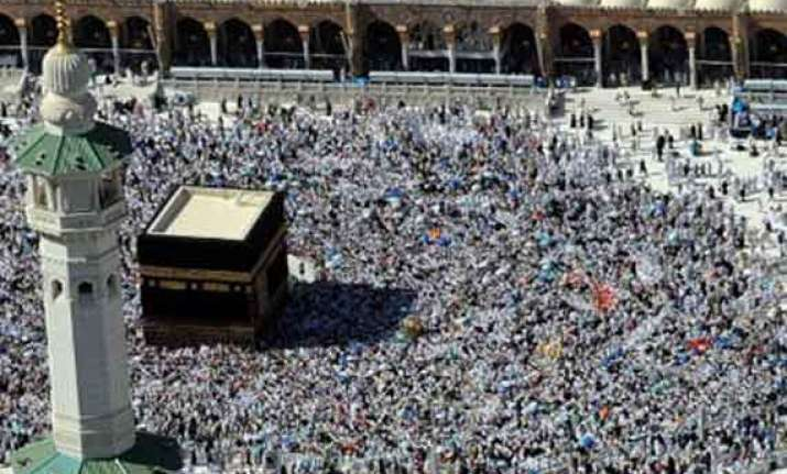 india s haj quota fixed at 136 000 in 2014