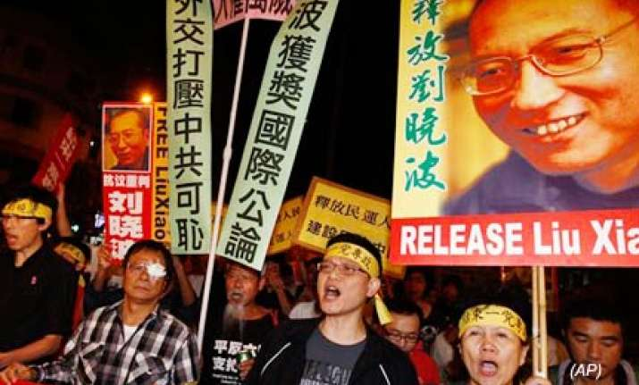 china protests nobel peace prize to jailed dissident