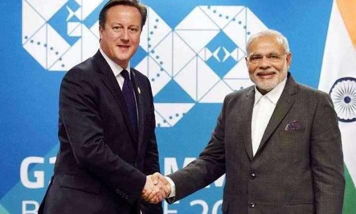 david cameron confirms pm modi s visit to britain