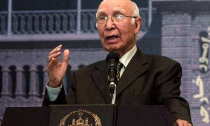 too early to speculate on timing of india visit sartaj aziz