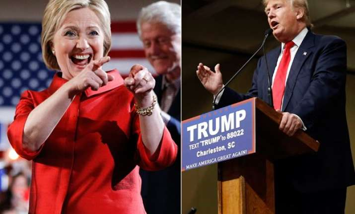 donald trump wins big in south carolina hillary clinton