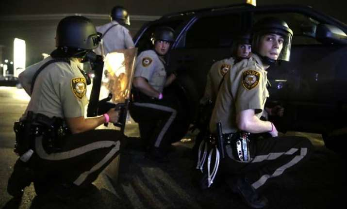 police shooting protests put ferguson back on edge