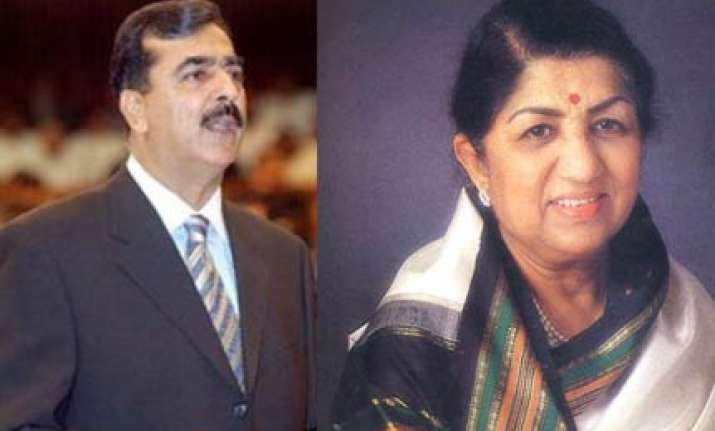 pak pm gilani invites lata to visit pakistan as state guest