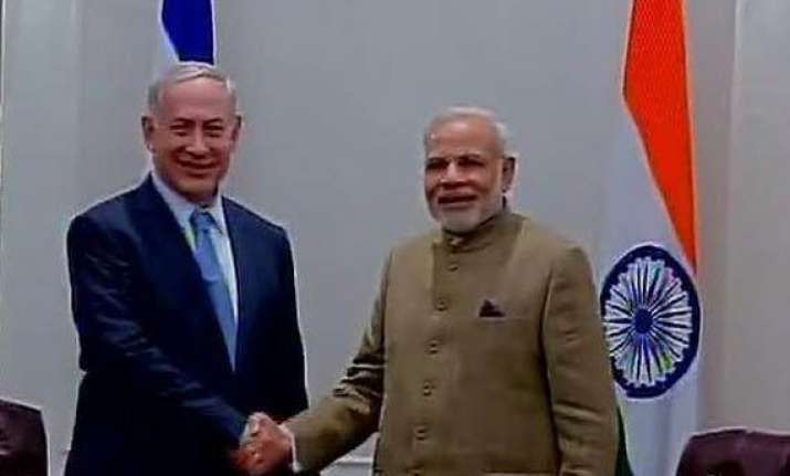 modi and netanyahu meet sky is the limit says israeli leader