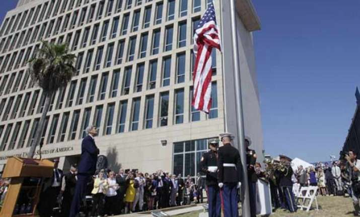 historic moment us flag raised in cuba after 54 years