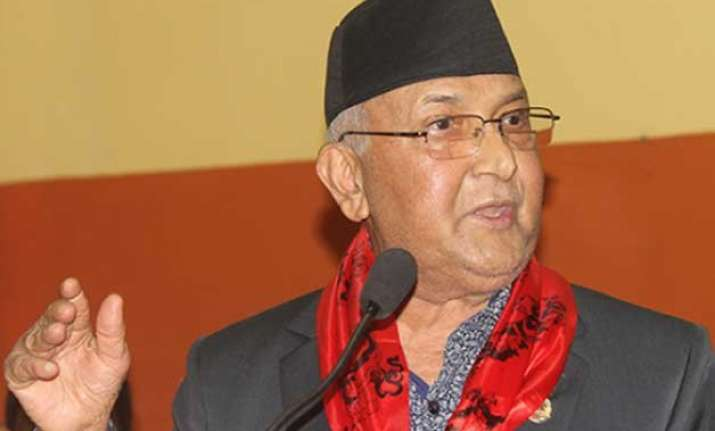 not playing china card against india nepal pm k p oli