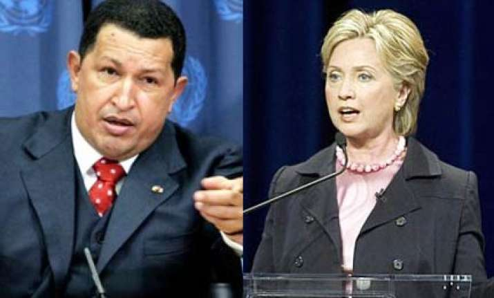 chavez mocks clinton as blond condoleezza