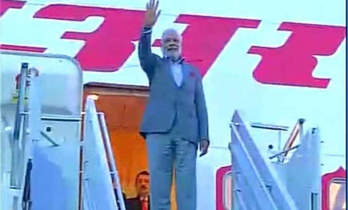 pm modi leaves for new delhi after three nation tour