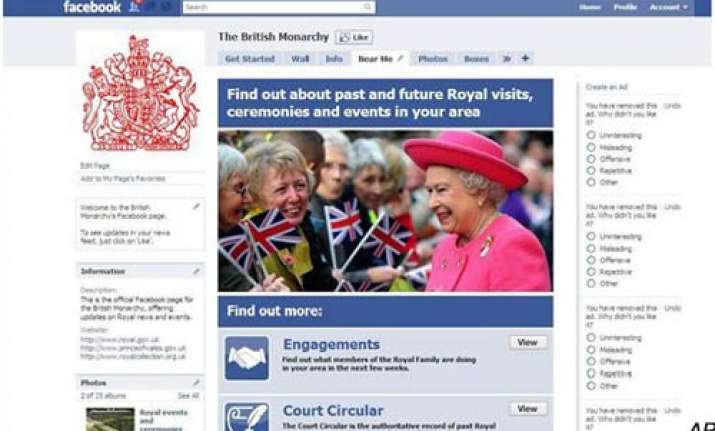 uk s queen elizabeth ii joins facebook