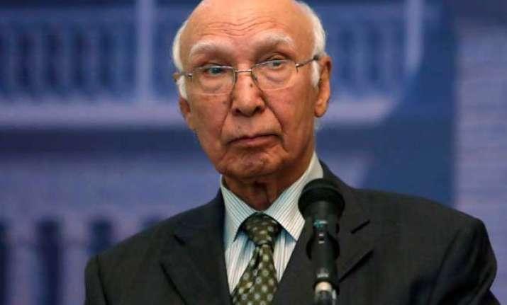 resume foreign secretary level indo pak talks sartaj aziz