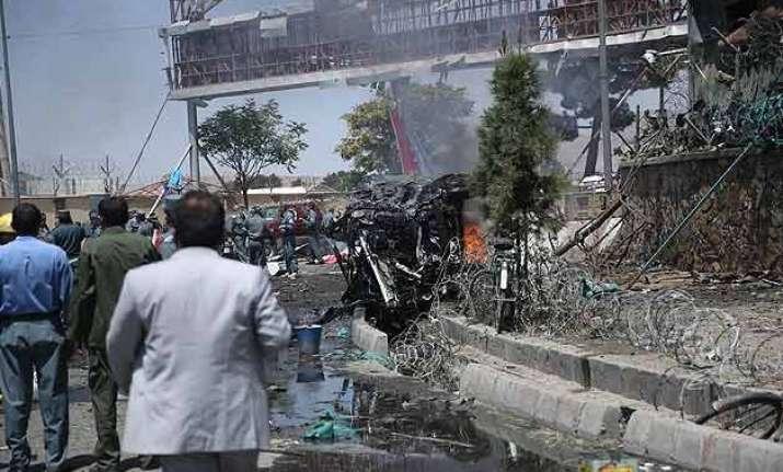 suicide car bomb near afghan capital s airport kills 5
