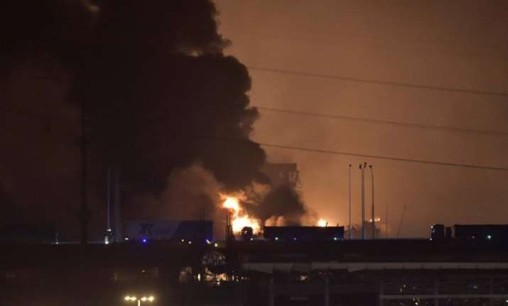 massive explosions rock chinese port city tianjin 17 killed