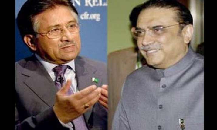 zardari assigns serving army officer for musharraf s