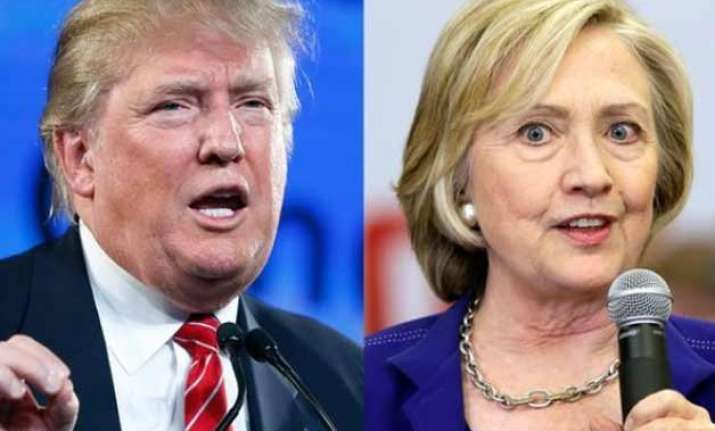 trump clinton lead ahead of super tuesday contests